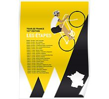 MY TOUR DE FRANCE MINIMAL POSTER 2014-ETAPES Poster
