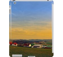 Sunset, the village and panorama | landscape photography iPad Case/Skin