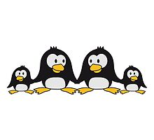 Sweet Penguin family children parents mom dad by Style-O-Mat