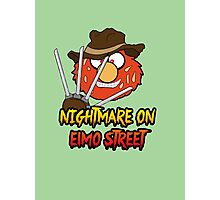 Nightmare on elmo street. Horror. Photographic Print