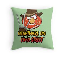 Nightmare on elmo street. Horror. Throw Pillow