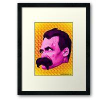 Nietzsche Multi-Heads 1 - by Rev. Shakes  Framed Print