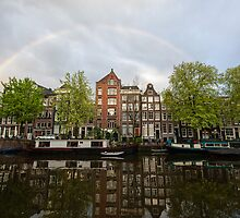 Rainbow over Amsterdam by Pierre Bourgault
