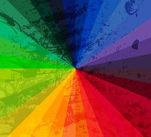 Rainbow Graphic Design Color Wheel by Groovyfinds