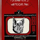 Big Brother Pig Brother is Watching You Orwell TV by wildwildwest