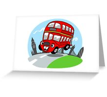 Funny London bus Greeting Card
