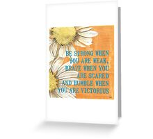 Dictionary Floral 2 Greeting Card