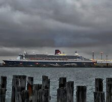 Queen Mary 2 Berthed by Steven  Agius