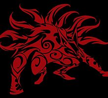 Kurama Tribal Red by Kimberly Castello