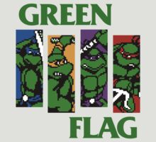Teenage Mutant Ninja Turtles - Black Flag MASHUP GREEN FLAG by erikaandmonty