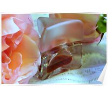 Roses, Parfum, And Lace Poster