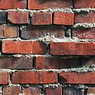 Weathered Rustic Brick Wall by Kenneth Keifer