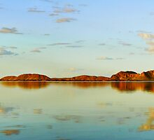 Sunset on Lake Argyle, Kununurra WA. by Natalie Uscinas