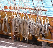 How many Ropes does one Tall Ship need! Tall Ships Festival, Pt. Adelaide. S.A. by Rita Blom