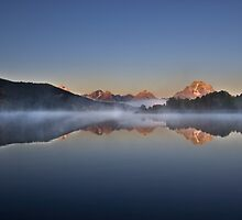 Sunrise at Oxbow Bend by Spencer Dickson
