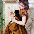 Her favourite pets after Sophie Gengembre Anderson by Hidemi Tada
