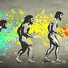 Street Art Rainbow Evolution by artNagual