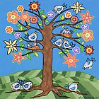 'Birdie Tree' - Inspired by Spring by Lisa Frances Judd~QuirkyHappyArt