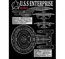 PICARDS ENTERPRISE NCC1701D  Photographic Print
