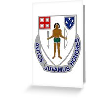 182nd Infantry Regiment - Avitos Juvamus Honores - We Uphold Our Ancient Honors Greeting Card