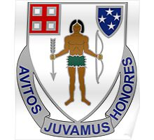 182nd Infantry Regiment - Avitos Juvamus Honores - We Uphold Our Ancient Honors Poster