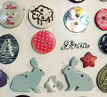 Love Bunny Buttons by Ludwig Wagner