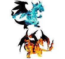 Mega Charizard X and Y used Blast Burn Photographic Print
