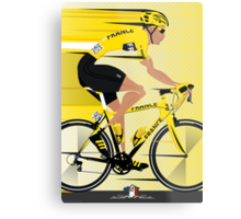 France Yellow Jersey Metal Print