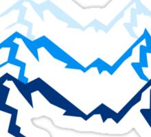 High beautiful mountains Sticker