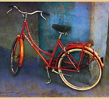 red bike in italy by R Christopher  Vest