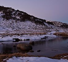 Spencers Creek - Winter Dusk 02 by Timothy Kenyon