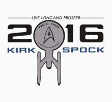 Vote Kirk & Spock 2016 by emsalee