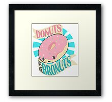 Donuts Before Bronuts Framed Print