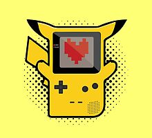 Pikachu Game Boy by spidersniper