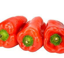Red peppers by crspix