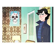 Sherlock at 221B by omgletmeloveu