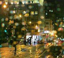 Powell Street Rainy Night by David Denny