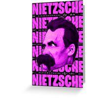 Nietzsche -  Face / Nietzsche Greeting Card