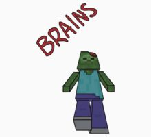 Zombie Minecraft Brains by mrawesome89