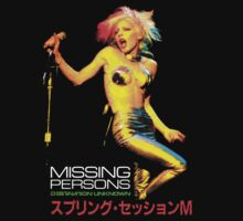 MISSING PERSONS Dale Bozzio Japanese Promo T-Shirt by horrorkid