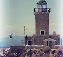 Vintage photo of lighthouse by elgreko