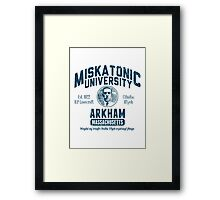 Miskatonic University Arkham Framed Print