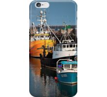 Fishing boats in harbour iPhone Case/Skin