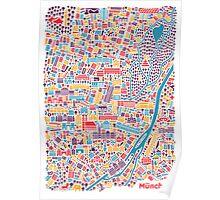 Munich City Map Poster Poster