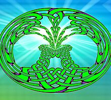 The Rising -  Celtic Tree of Life No19 by Dennis Melling