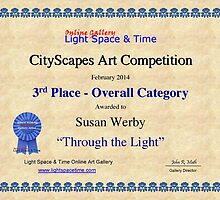 "3rd Place- Overall ""Cityscapes""Category- Through the Light by Susan Werby"