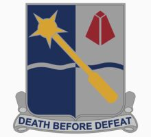 254th Infantry Regiment - Death Before Defeat by VeteranGraphics