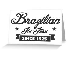 Vintage Brazilian Jiu_Jitsu Since 1925 Greeting Card