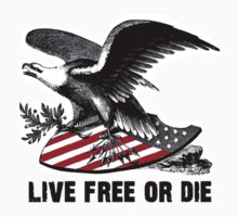 New Hampshire Live Free or Die Eagle & Shield by 8675309