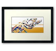Slung Chunks Framed Print